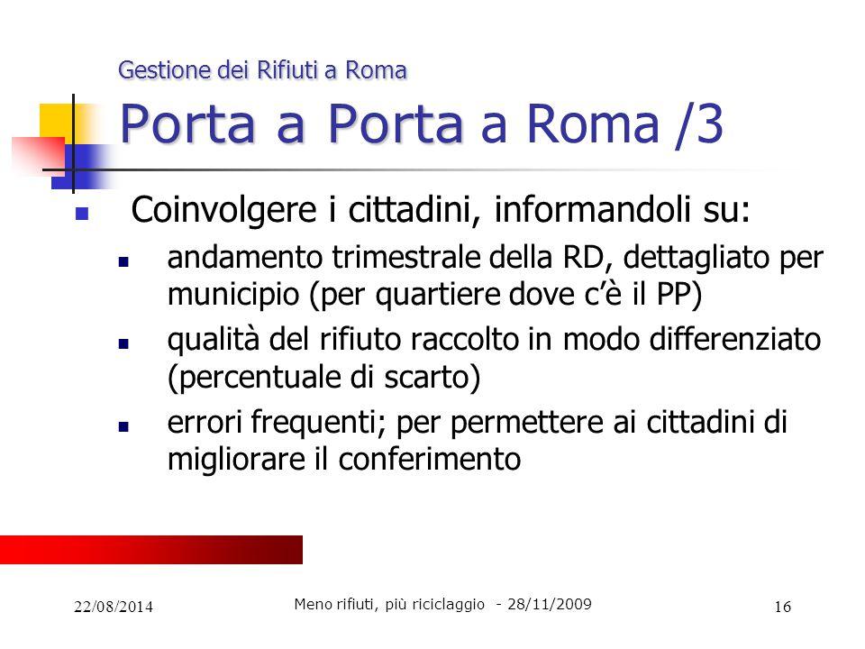Gestione dei Rifiuti a Roma Porta a Porta a Roma /3