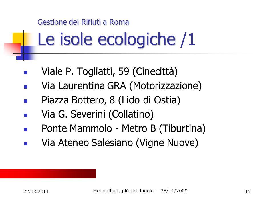 Gestione dei Rifiuti a Roma Le isole ecologiche /1
