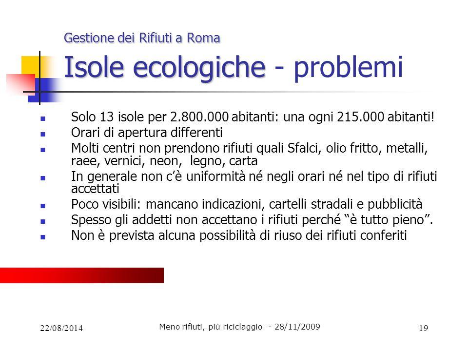 Gestione dei Rifiuti a Roma Isole ecologiche - problemi