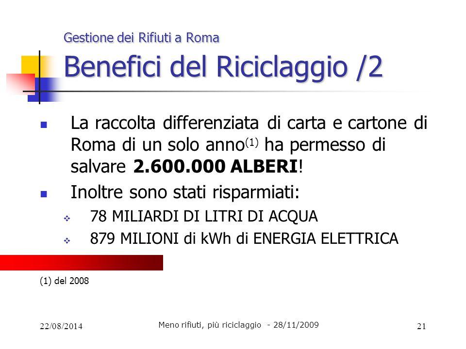 Gestione dei Rifiuti a Roma Benefici del Riciclaggio /2