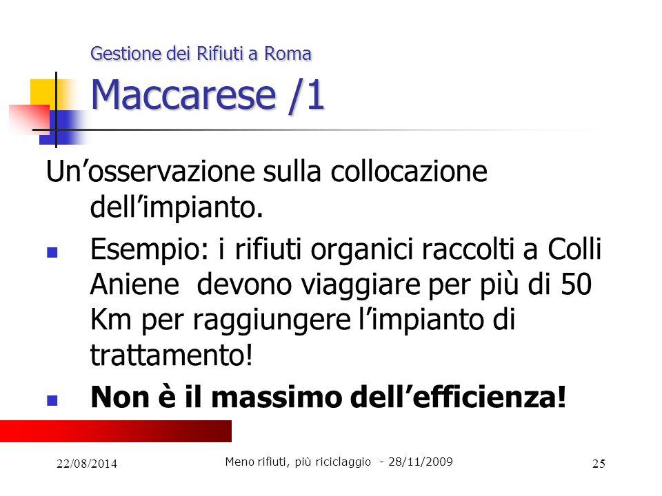 Gestione dei Rifiuti a Roma Maccarese /1