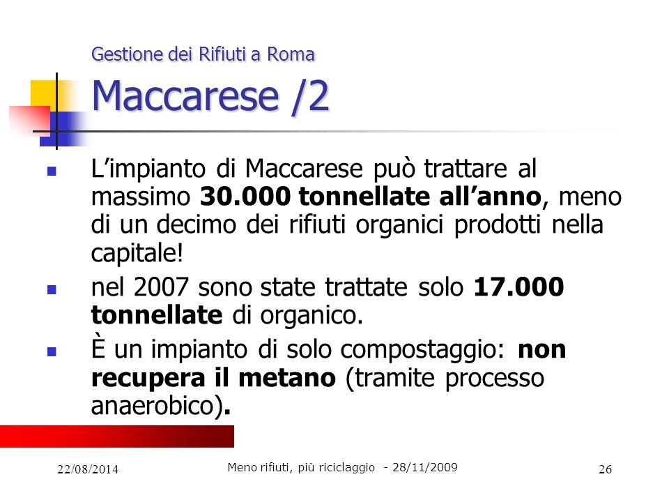 Gestione dei Rifiuti a Roma Maccarese /2