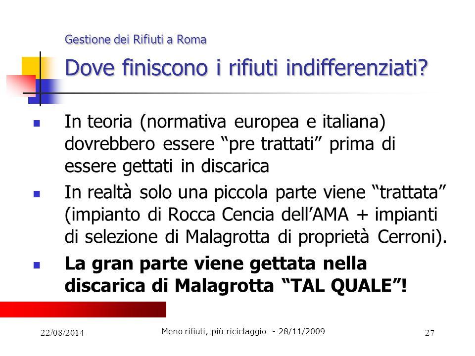 Gestione dei Rifiuti a Roma Dove finiscono i rifiuti indifferenziati