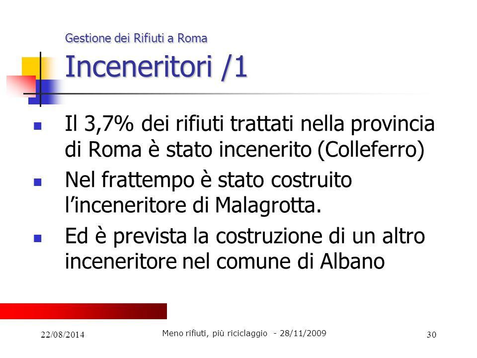 Gestione dei Rifiuti a Roma Inceneritori /1