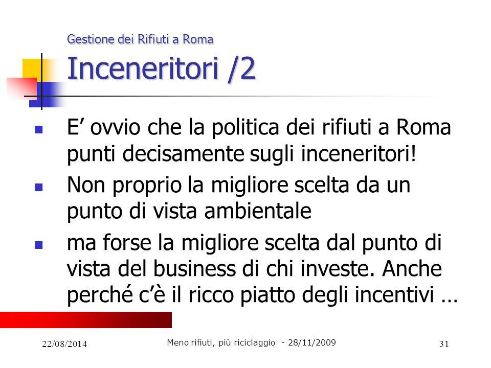 Gestione dei Rifiuti a Roma Inceneritori /2