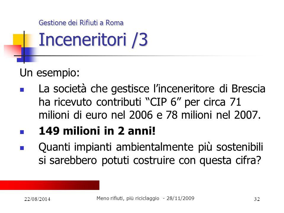 Gestione dei Rifiuti a Roma Inceneritori /3