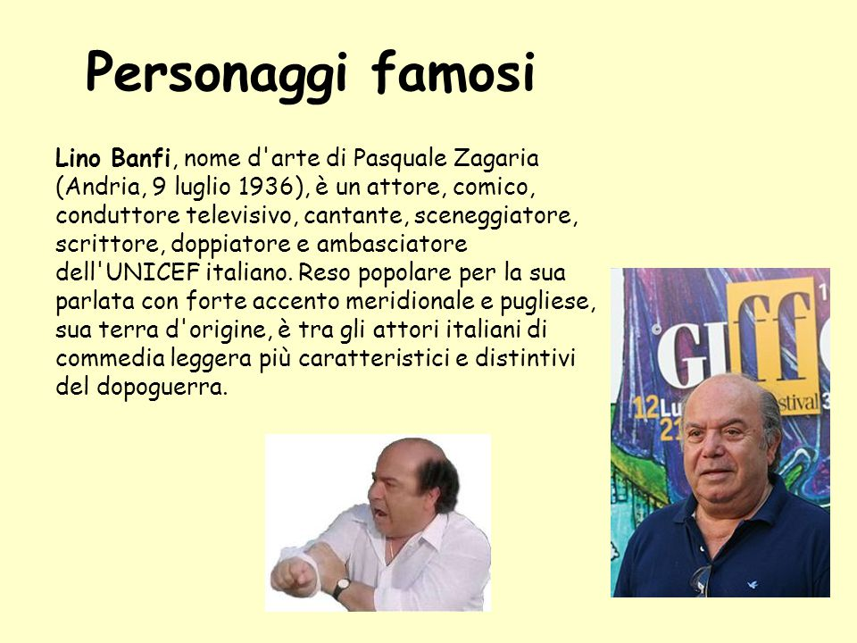 Personaggi famosi