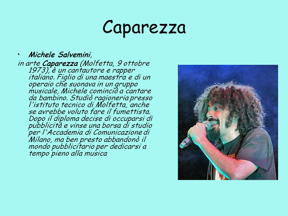 Caparezza Michele Salvemini,
