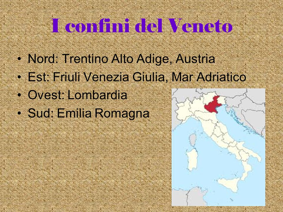 I confini del Veneto Nord: Trentino Alto Adige, Austria