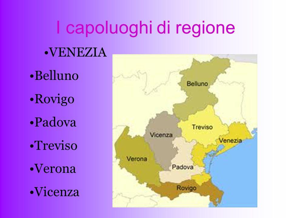 I capoluoghi di regione
