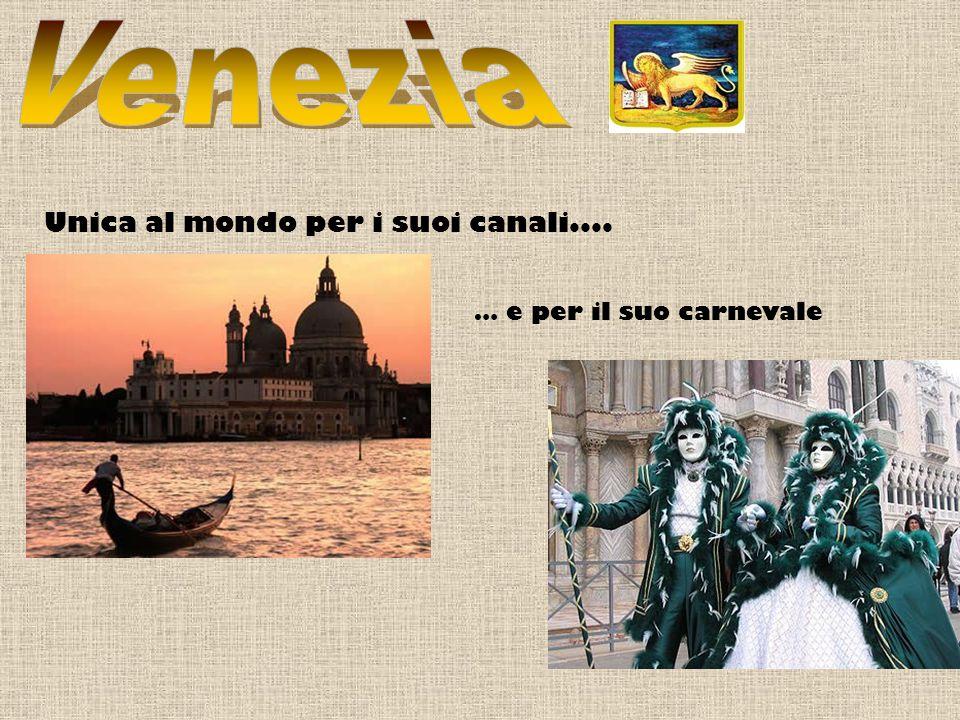 Venezia Unica al mondo per i suoi canali.... … e per il suo carnevale