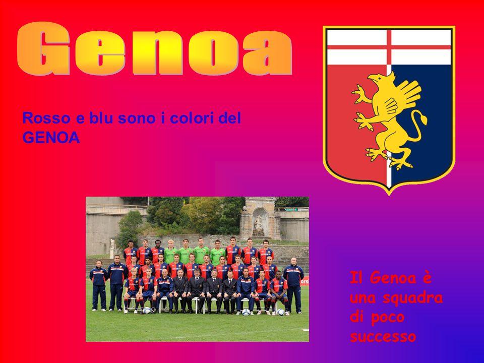 Genoa Rosso e blu sono i colori del GENOA