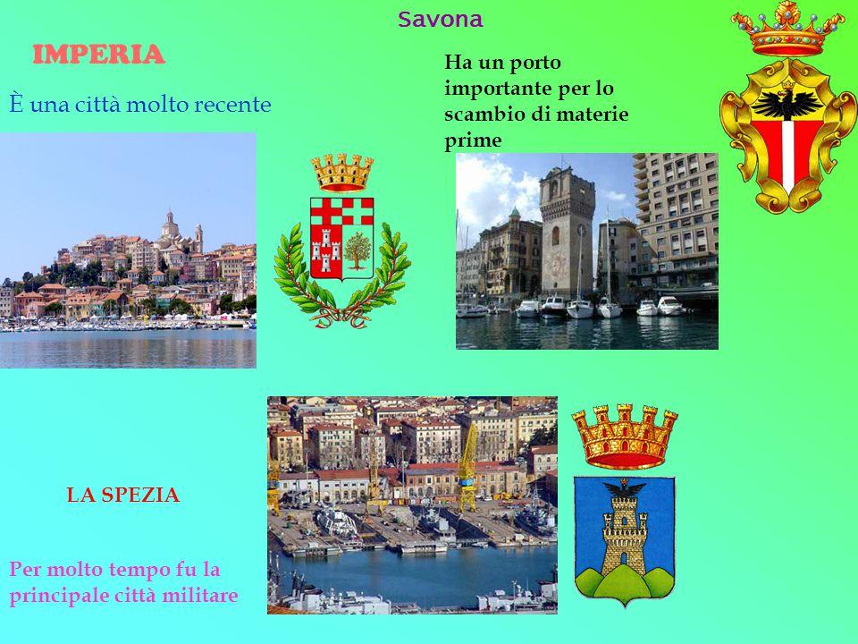 IMPERIA Savona È una città molto recente