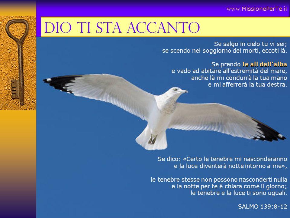 Dio ti sta accanto www.MissionePerTe.it Se salgo in cielo tu vi sei;