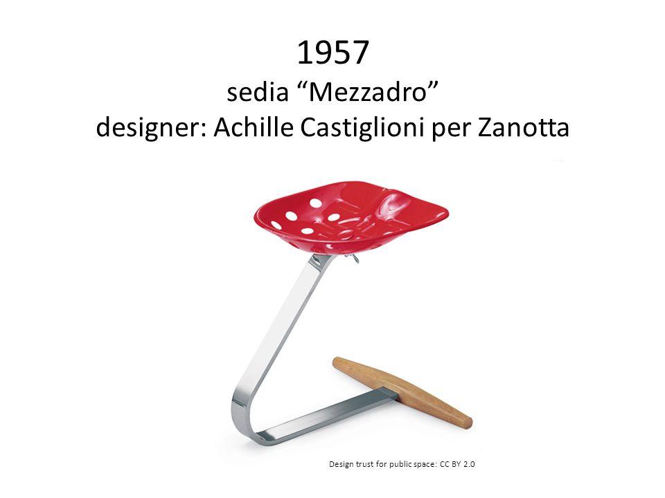 1957 sedia Mezzadro designer: Achille Castiglioni per Zanotta