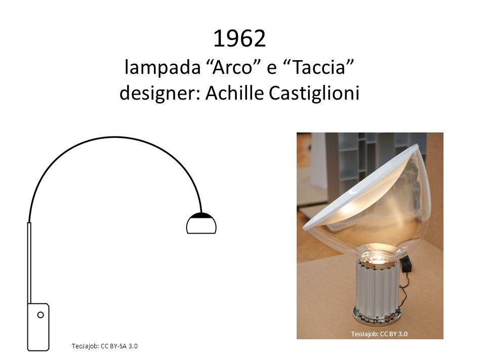 1962 lampada Arco e Taccia designer: Achille Castiglioni