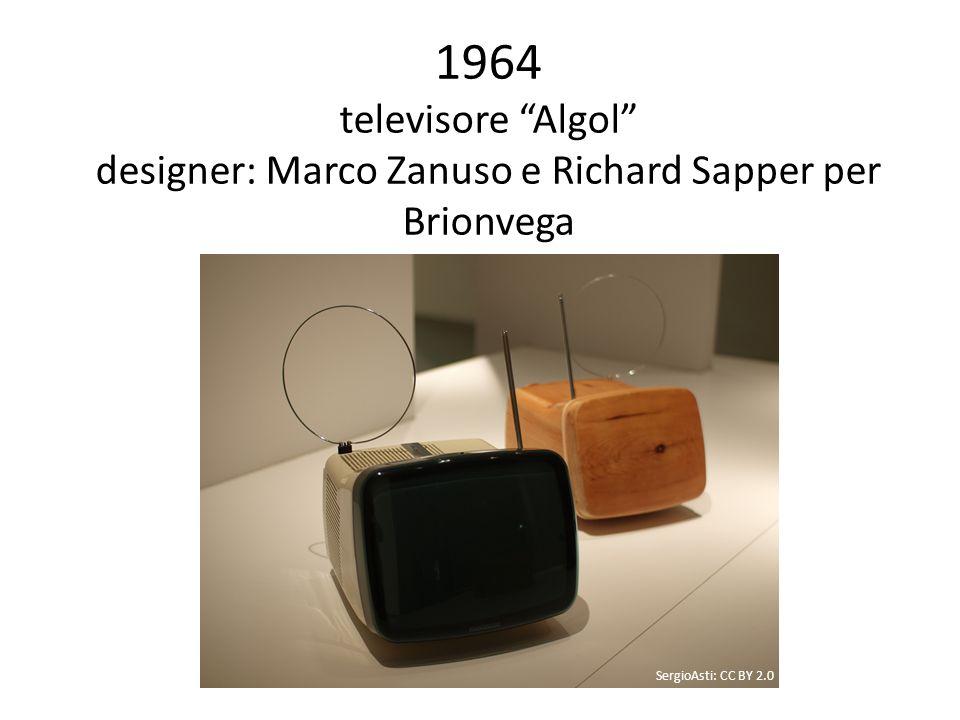1964 televisore Algol designer: Marco Zanuso e Richard Sapper per Brionvega