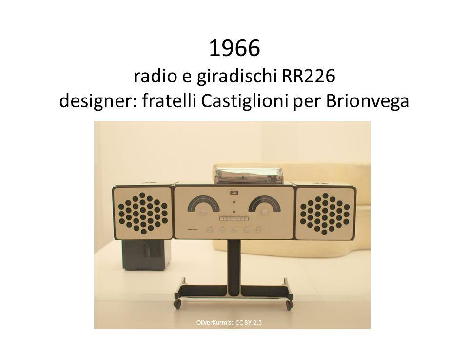1966 radio e giradischi RR226 designer: fratelli Castiglioni per Brionvega