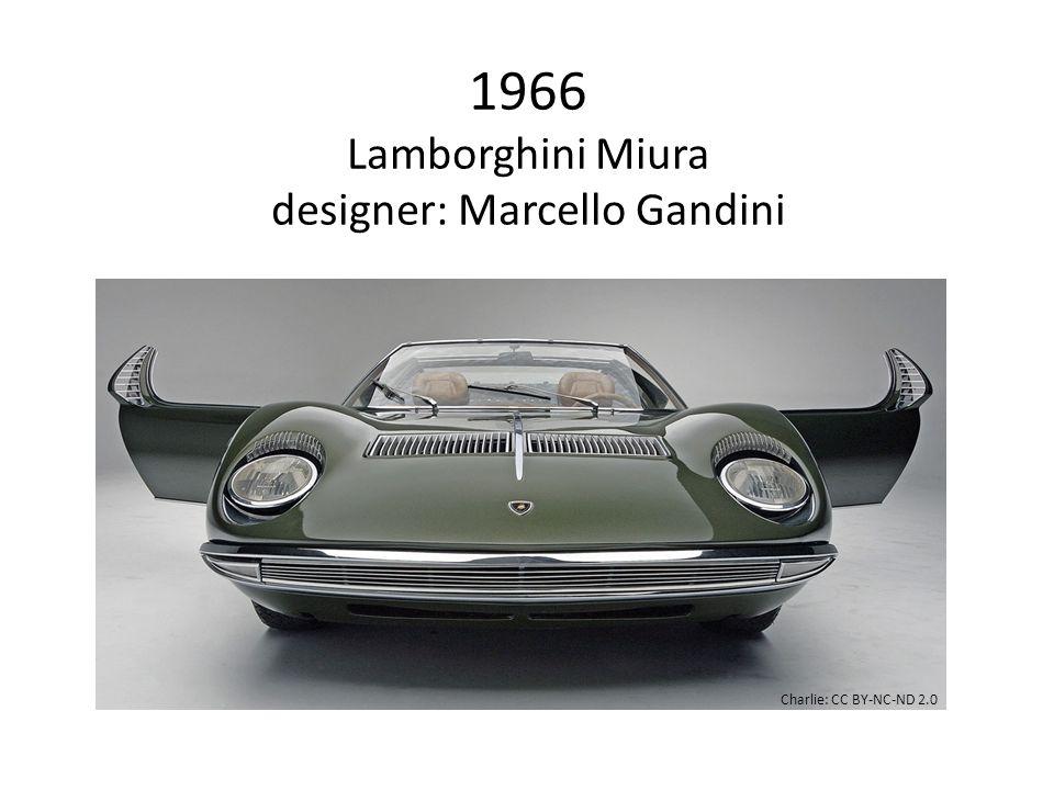 1966 Lamborghini Miura designer: Marcello Gandini