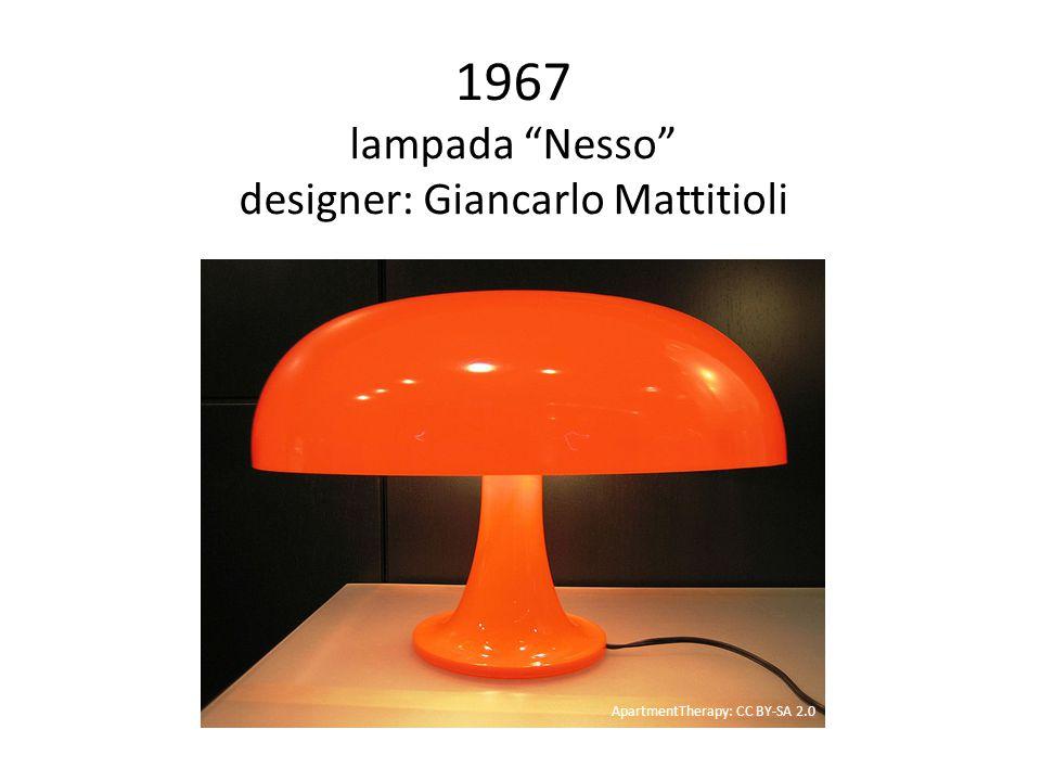 1967 lampada Nesso designer: Giancarlo Mattitioli