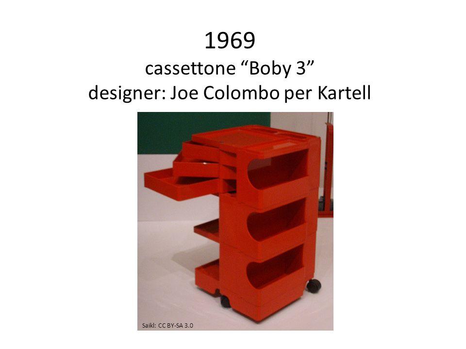 1969 cassettone Boby 3 designer: Joe Colombo per Kartell