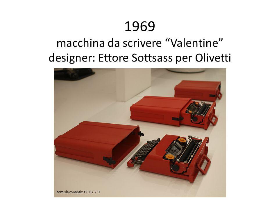 1969 macchina da scrivere Valentine designer: Ettore Sottsass per Olivetti