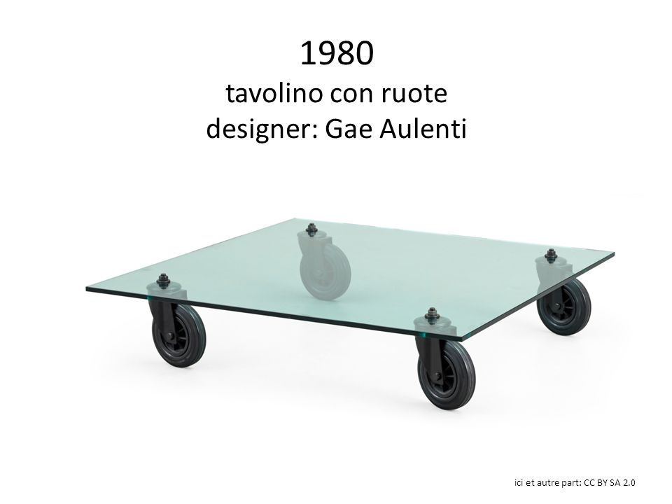 1980 tavolino con ruote designer: Gae Aulenti