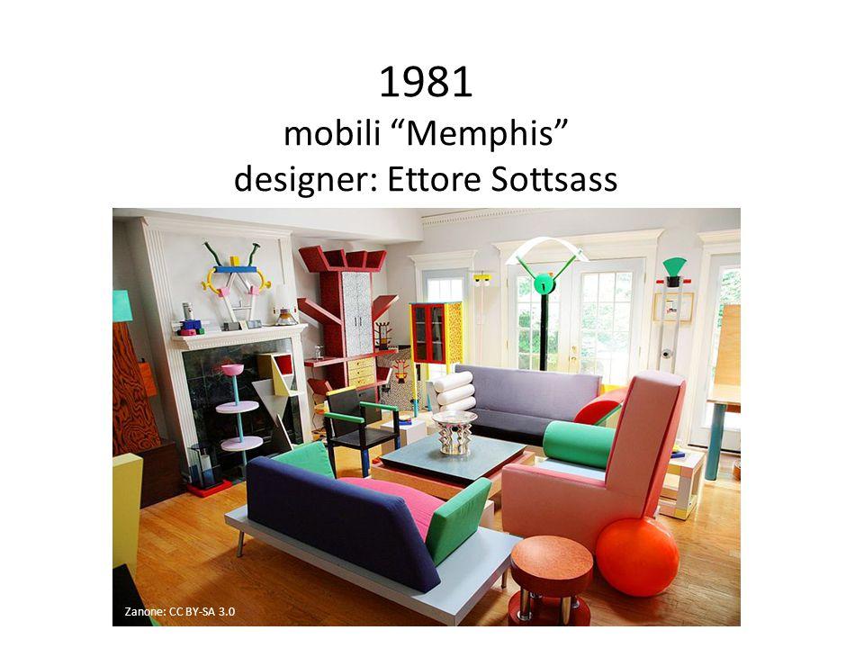 1981 mobili Memphis designer: Ettore Sottsass