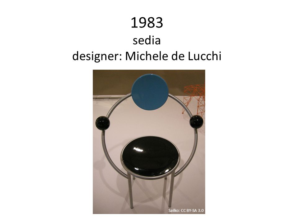 1983 sedia designer: Michele de Lucchi