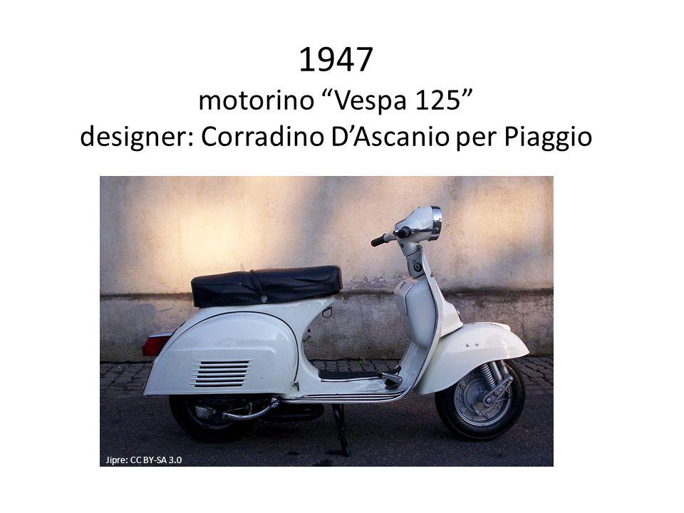 1947 motorino Vespa 125 designer: Corradino D'Ascanio per Piaggio