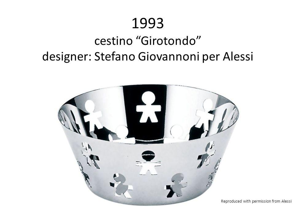 1993 cestino Girotondo designer: Stefano Giovannoni per Alessi