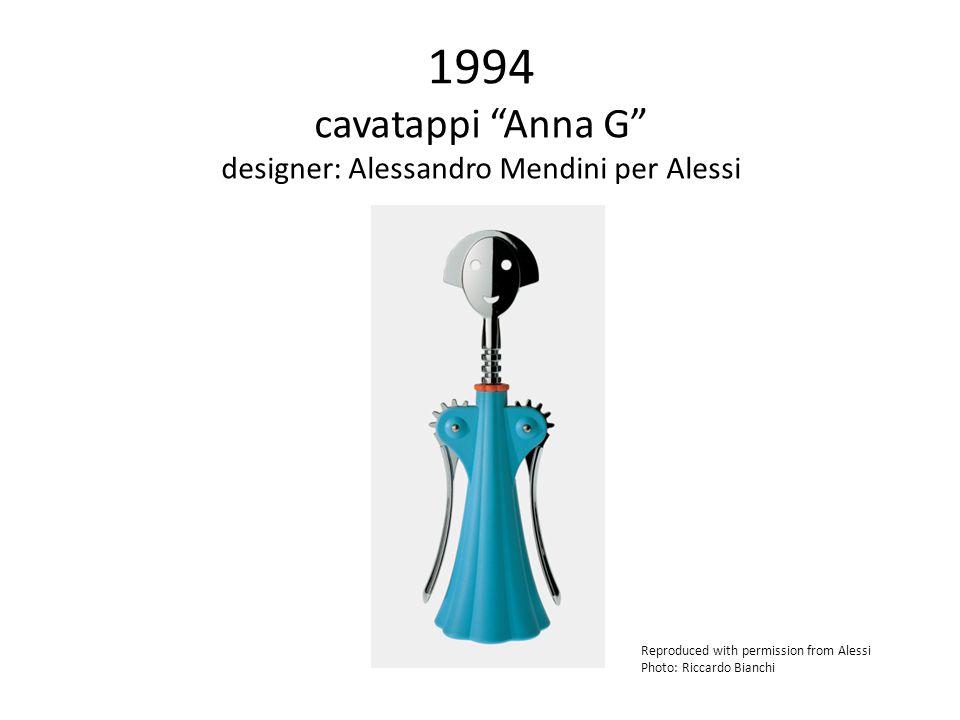 1994 cavatappi Anna G designer: Alessandro Mendini per Alessi