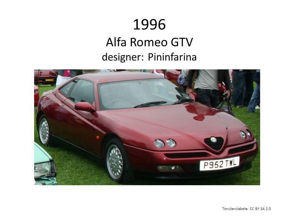 1996 Alfa Romeo GTV designer: Pininfarina