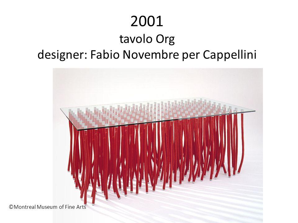 2001 tavolo Org designer: Fabio Novembre per Cappellini