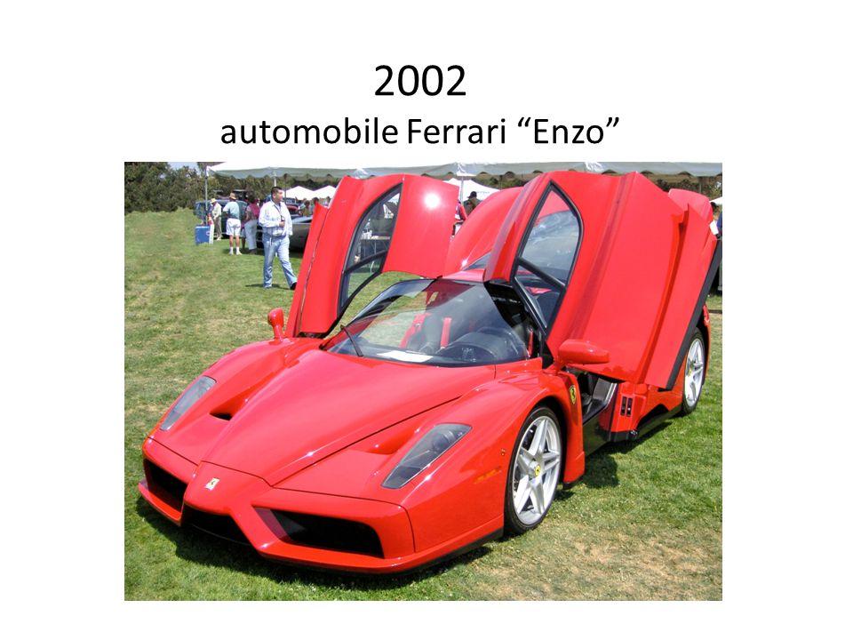 2002 automobile Ferrari Enzo designer: Pininfarina