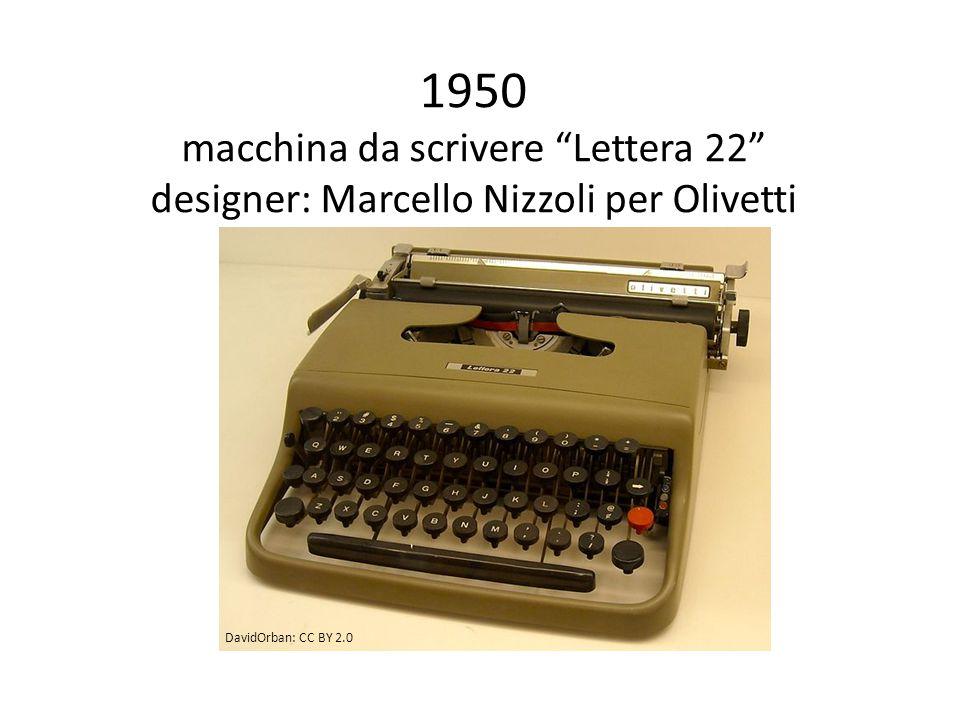 1950 macchina da scrivere Lettera 22 designer: Marcello Nizzoli per Olivetti