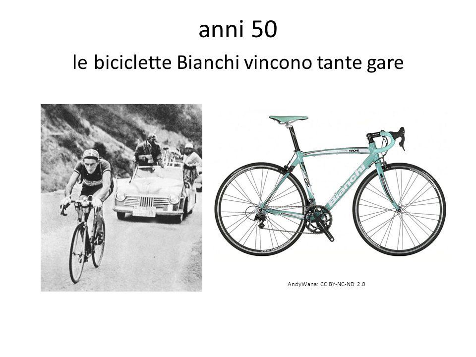 anni 50 le biciclette Bianchi vincono tante gare