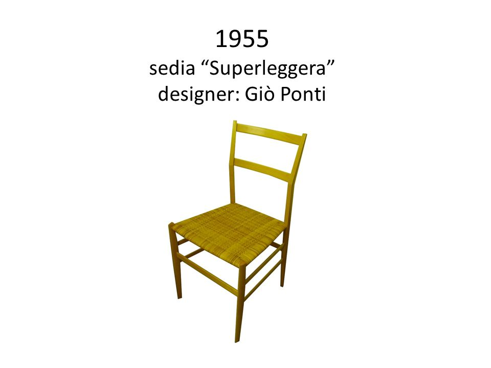 Le icone del design industriale italiano ppt video for Sedia superleggera