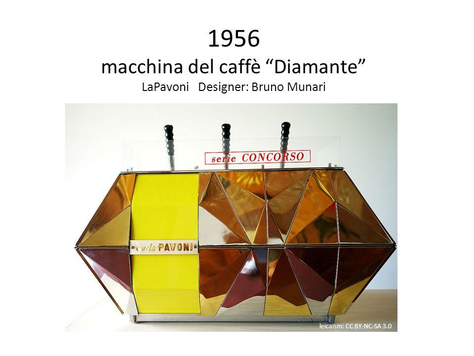 1956 macchina del caffè Diamante LaPavoni Designer: Bruno Munari