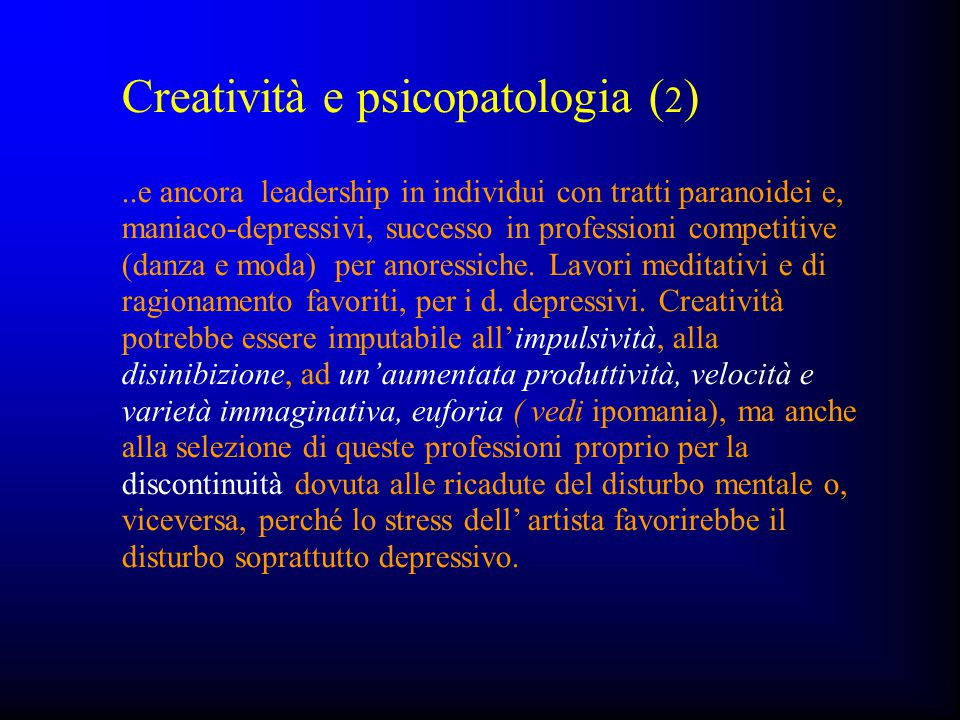 Creatività e psicopatologia (2)