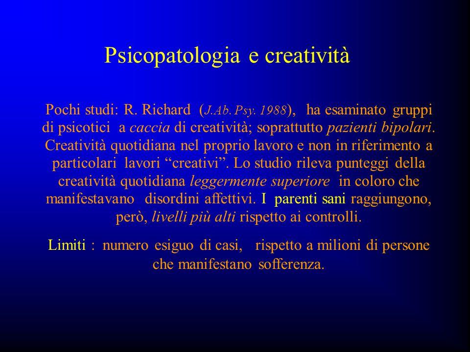Psicopatologia e creatività