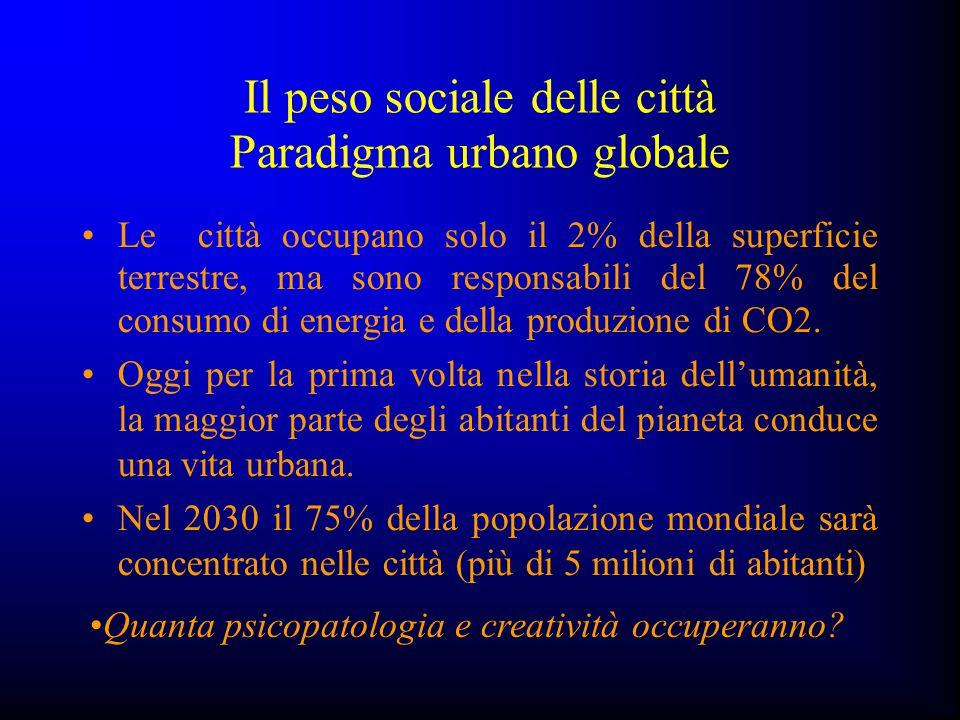 Il peso sociale delle città Paradigma urbano globale