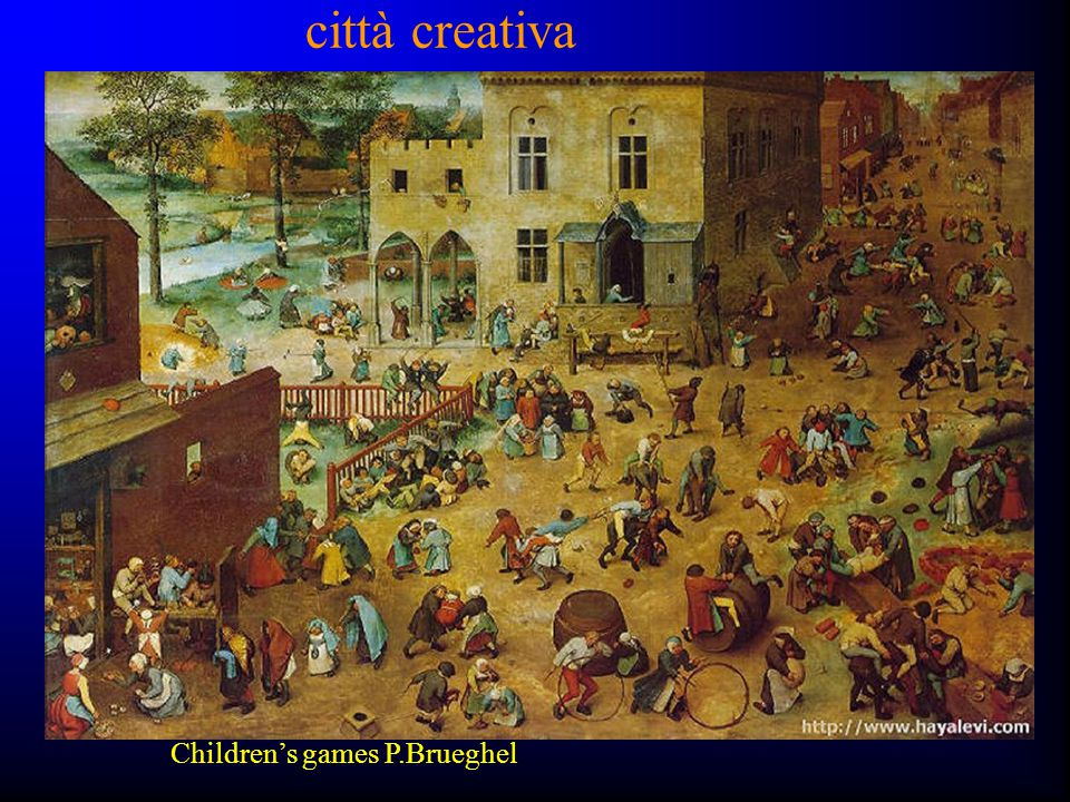 città creativa Children's games P.Brueghel