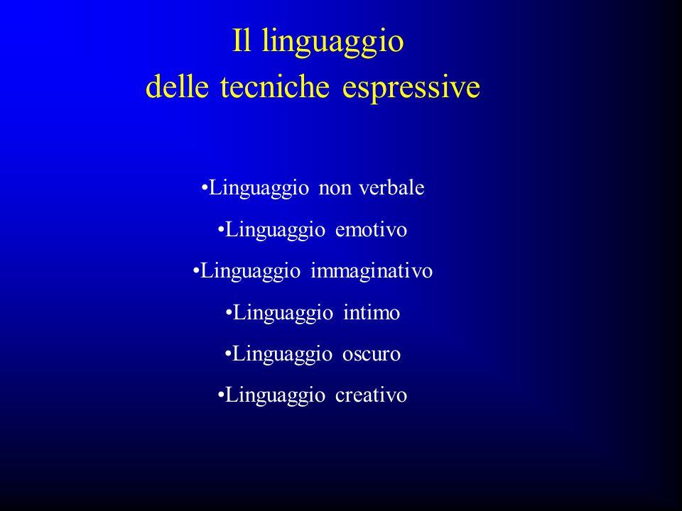 Il linguaggio delle tecniche espressive