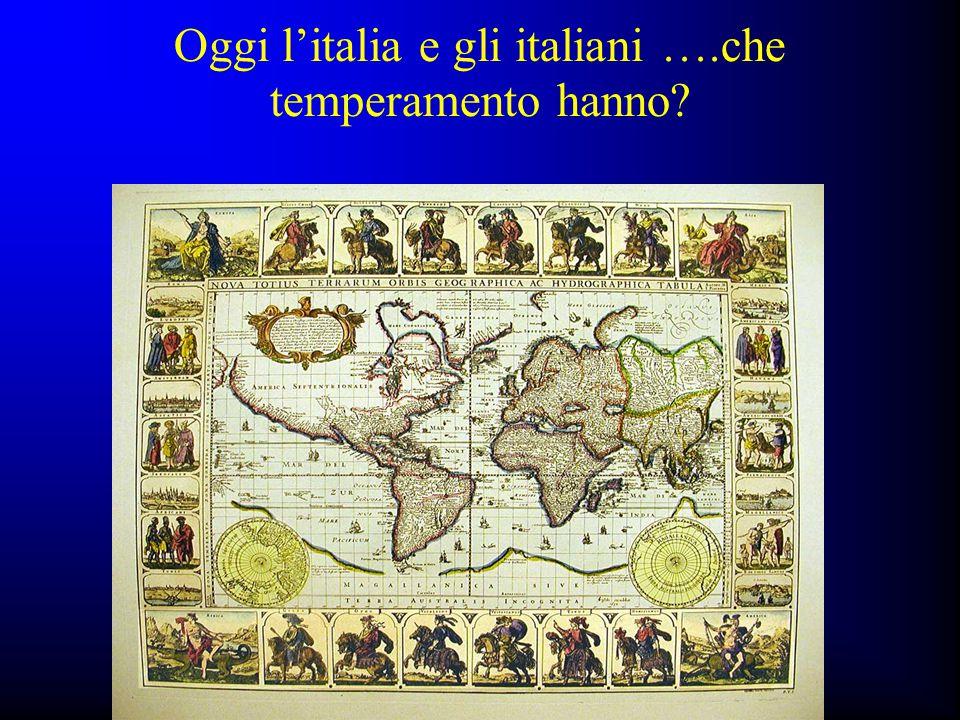 Oggi l'italia e gli italiani ….che temperamento hanno
