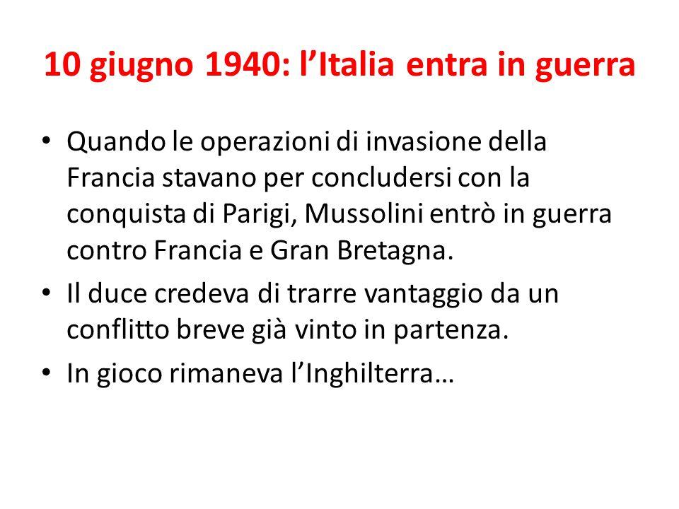 10 giugno 1940: l'Italia entra in guerra