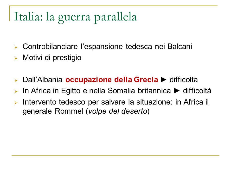 Italia: la guerra parallela
