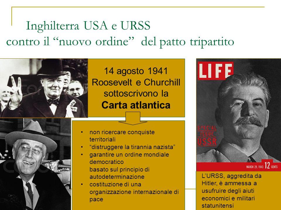 Inghilterra USA e URSS contro il nuovo ordine del patto tripartito