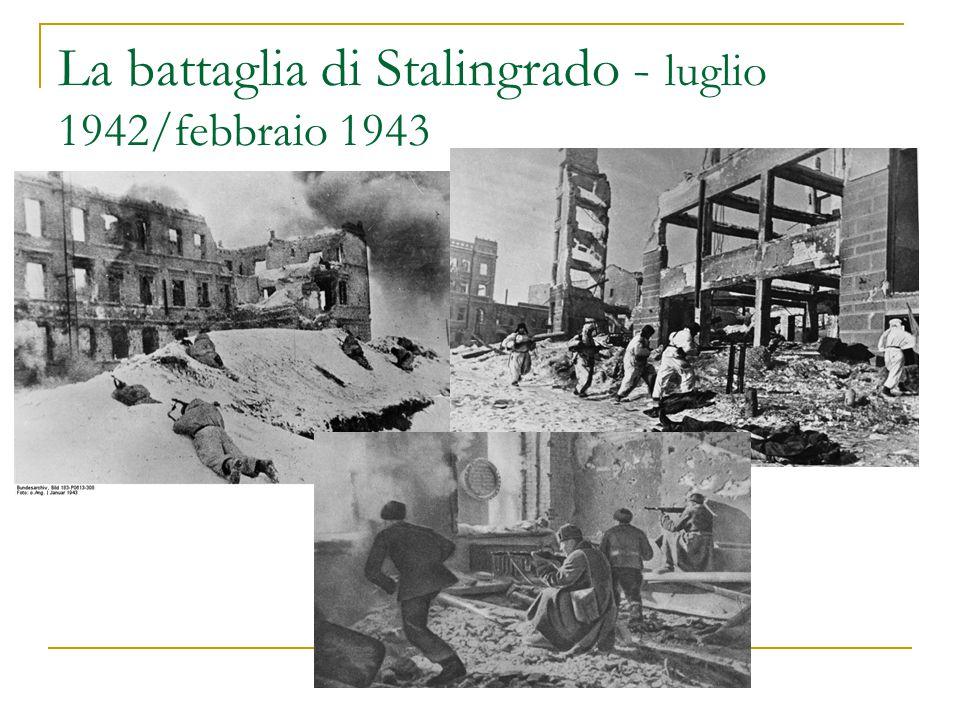 La battaglia di Stalingrado - luglio 1942/febbraio 1943