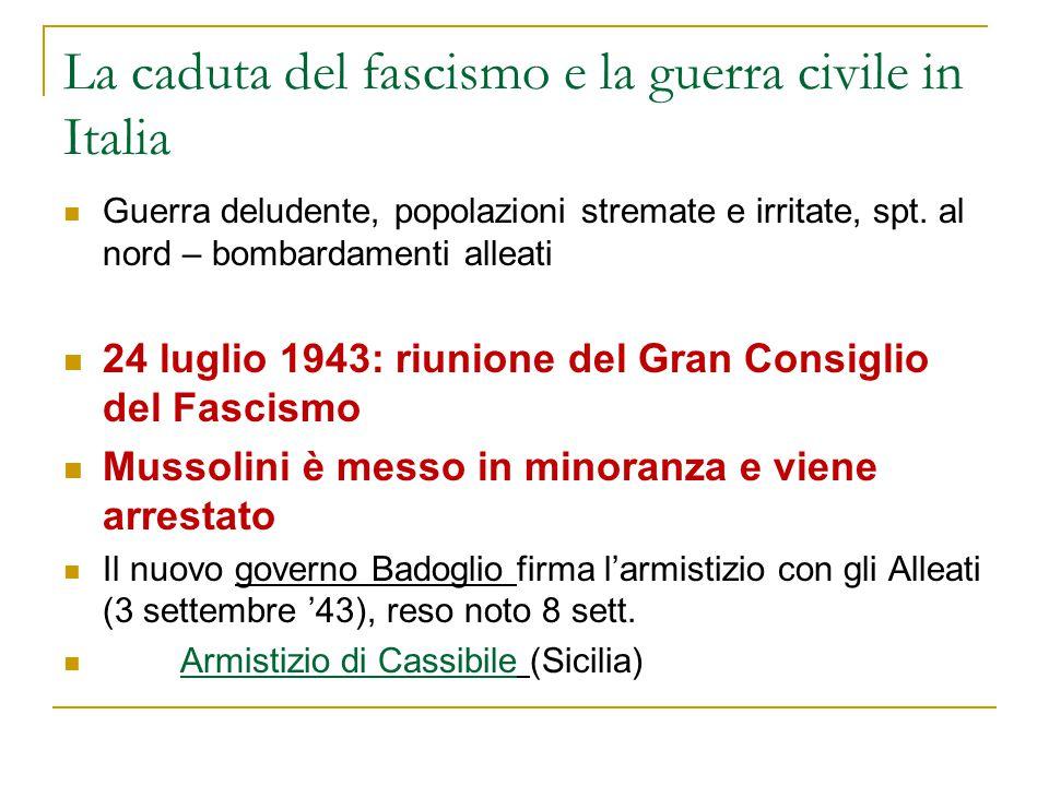 La caduta del fascismo e la guerra civile in Italia